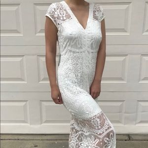 Express lace maxi dress